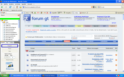 Firefox: login automatico con iMacros - Programmi GT