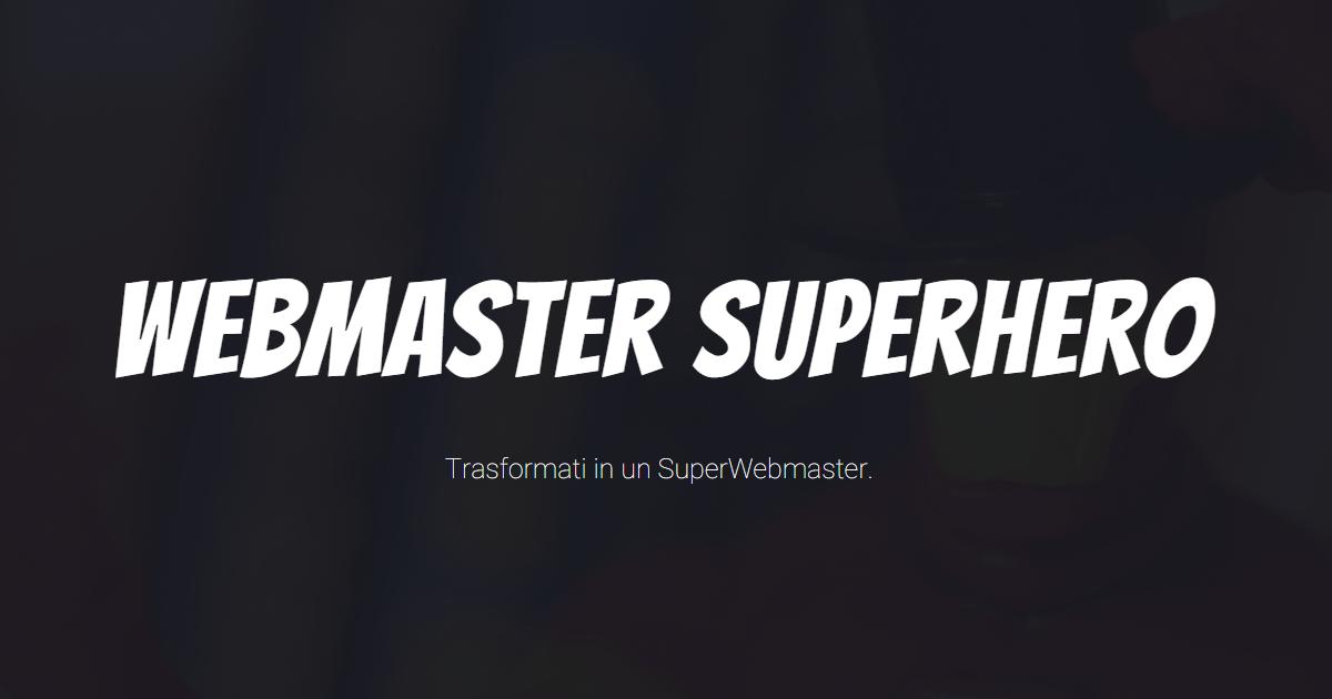 Webmaster Superhero