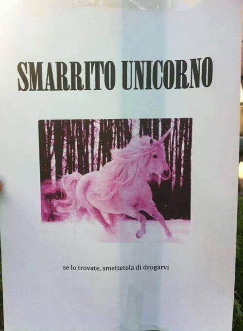 unicorno smarrito