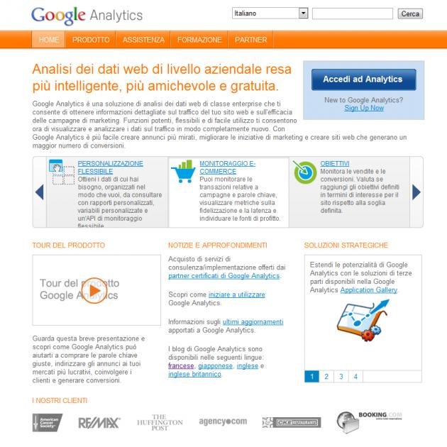Google Analytics - Sito web ufficiale