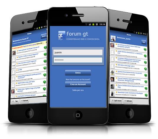 Applicazione mobile forum gt